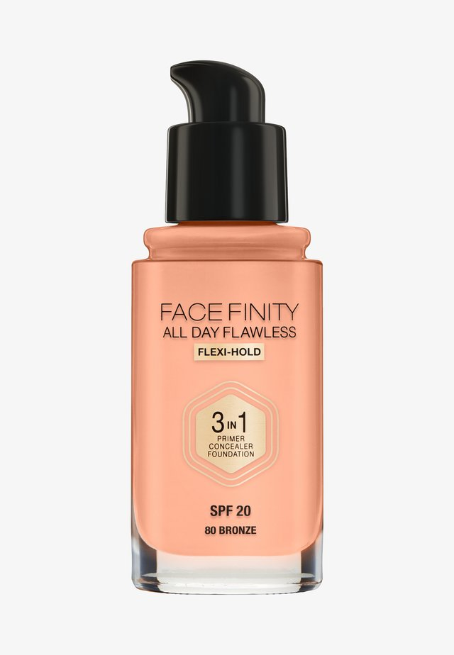 ALL DAY FLAWLESS 3 IN 1 FOUNDATION - Fond de teint - 80 bronze
