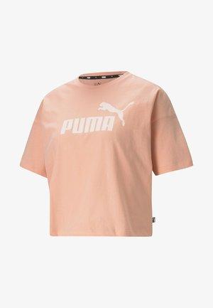 CROPPED LOGO - Print T-shirt - apricot blush