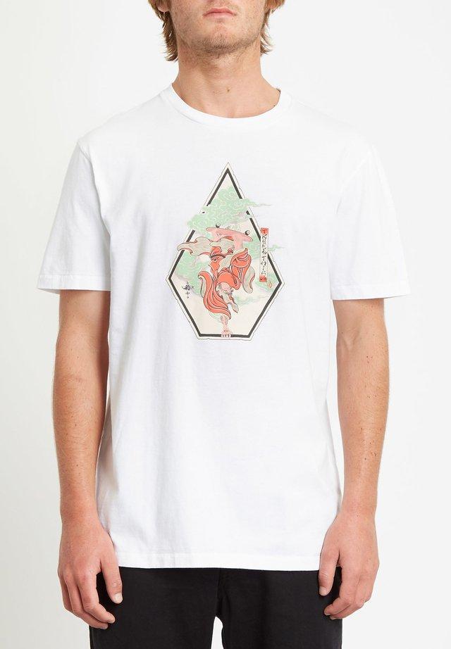 NOZAKA SKATE  - T-shirt con stampa - white