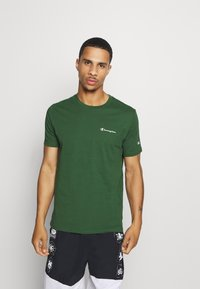 Champion - LEGACY CREWNECK - Camiseta básica - dark green - 0