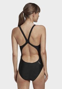 adidas Performance - GLAM-ON SHINY 3-STRIPES SWIMSUIT - Swimsuit - black - 1