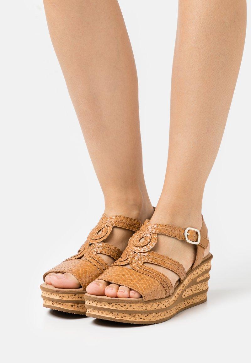 Gabor - Platform sandals - cognac