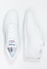 Reebok Classic - EXOFIT LO CLEAN LOGO SHOES - Trainers - white/royal blue - 1