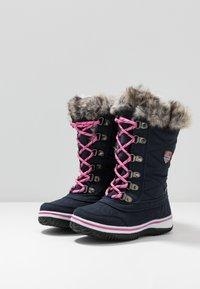 TrollKids - HOLMENKOLLEN UNISEX - Winter boots - navy/magenta - 3
