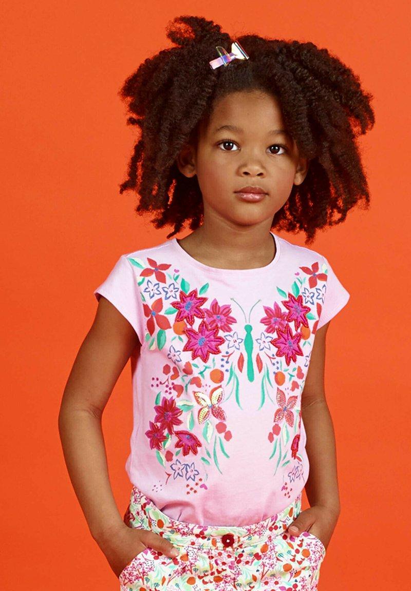 Du Pareil au Même - Print T-shirt - parma violet