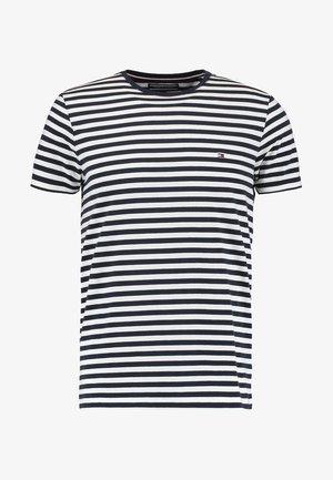 SLIM FIT TEE - T-shirt con stampa - navy blazer/bright white