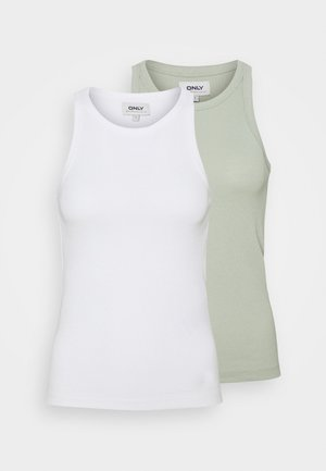 ONLLINDSAY TANK 2 PACK - Toppe - cloud dancer
