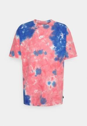 TEE  - T-shirt med print - fusion red/signal blue