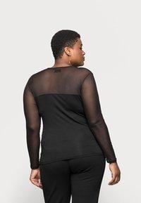 Even&Odd Curvy - MESH INSERT TOP - Long sleeved top - black - 2