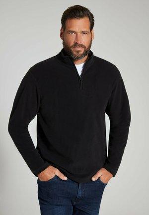 Fleece jumper - schwarz