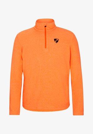 JAMIL - Fleece jumper - neon orange.black