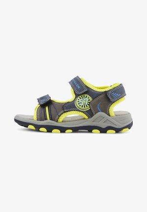 Walking sandals - navy-grey-yellow