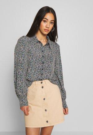 NALA BLOUSE - Button-down blouse - black