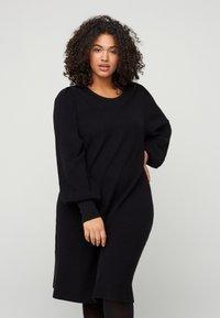 Zizzi - Shift dress - black - 0