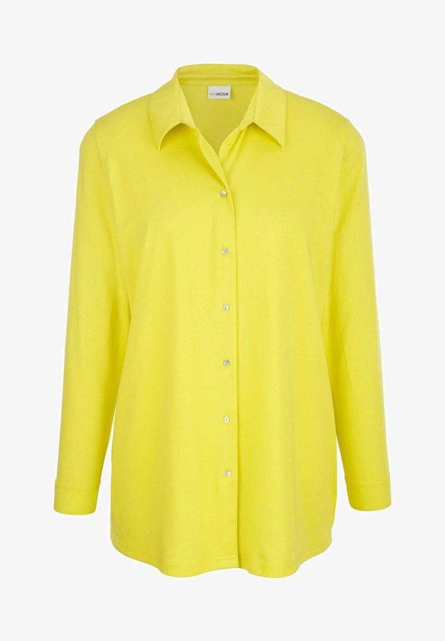 Button-down blouse - neongelb