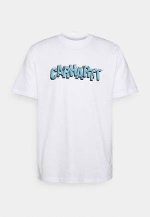 SHATTERED SCRIPT - Camiseta estampada - white
