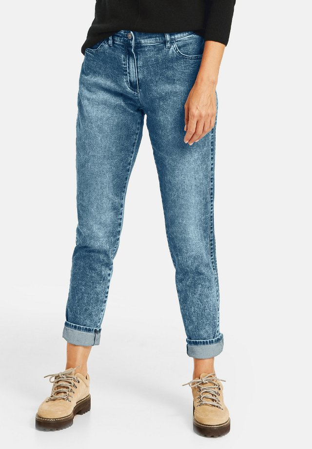 Jean slim - blau denim mit use