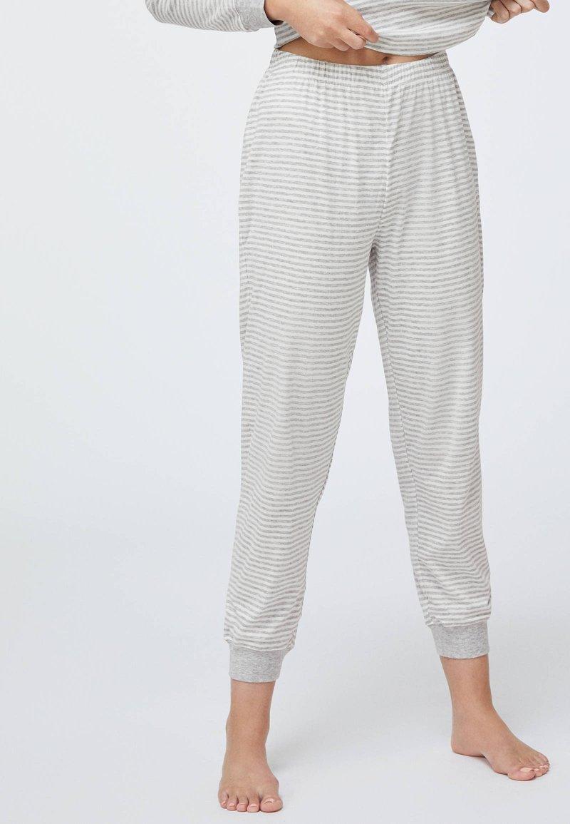 OYSHO - STRIPED - Pyžamový spodní díl - grey