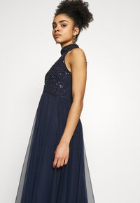 Dorothy Perkins Petite - ELEANOR ENAMEL BEADED HALTER MAXI DRESS - Occasion wear - navy - 4
