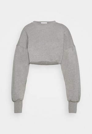 SUPER CROPPED RAW HEM - Sweatshirts - grey marl