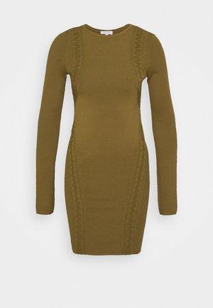 KARDESHIAN DRESS - Strikkjoler - industrial green