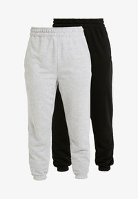 Missguided Petite - BASIC JOGGERS 2 PACK - Tracksuit bottoms - black/grey - 3