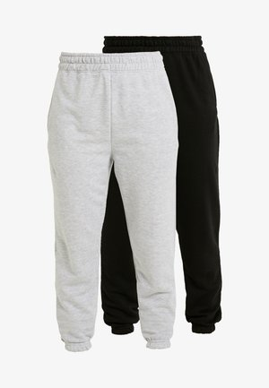 BASIC JOGGERS 2 PACK - Tracksuit bottoms - black/grey