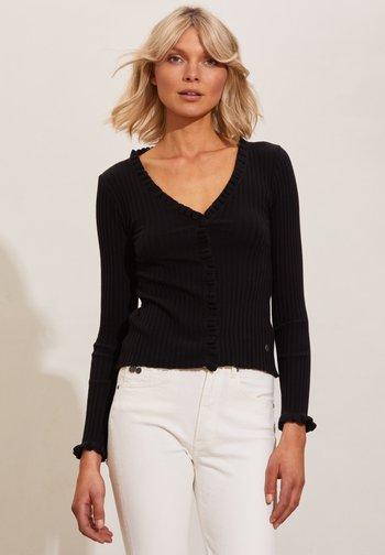Long sleeved top - almost black