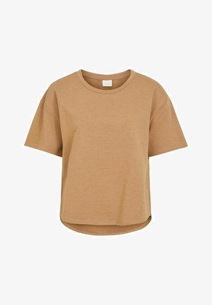 MIT KURZEN ÄRMELN RUNDHALSAUSSCHNITT - Basic T-shirt - tigers eye