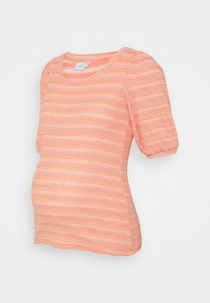 MLHOLLY - Basic T-shirt - snow white/coral