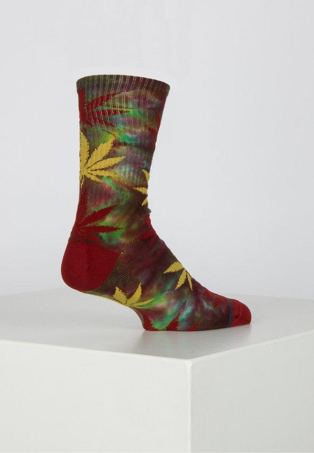 TIE-DYE PLANTLIFE - Socks - rose wood red