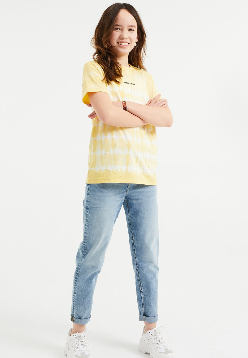 WE Fashion - T-shirt print - light yellow