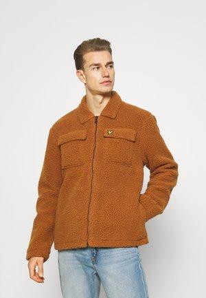 COLLARED PILE JACKET - Winter jacket - ciderbrown