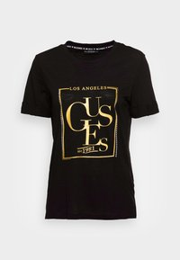 Guess - SIMONNE  - T-shirt z nadrukiem - jet black - 3
