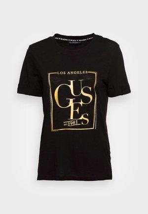 SIMONNE  - T-shirt imprimé - jet black