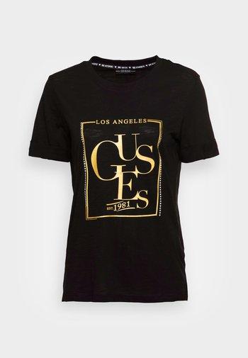 SIMONNE  - Print T-shirt - jet black