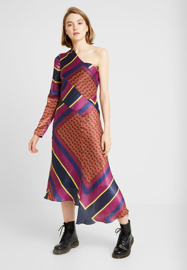 ONE SHOULDER CAMBODIAN DRESS - Day dress - berry multi