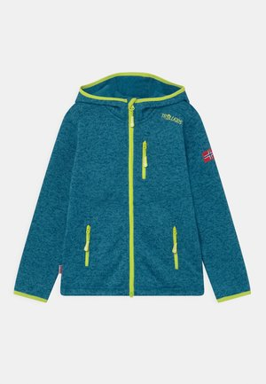 JONDALEN UNISEX - Fleece jacket - petrol/lime