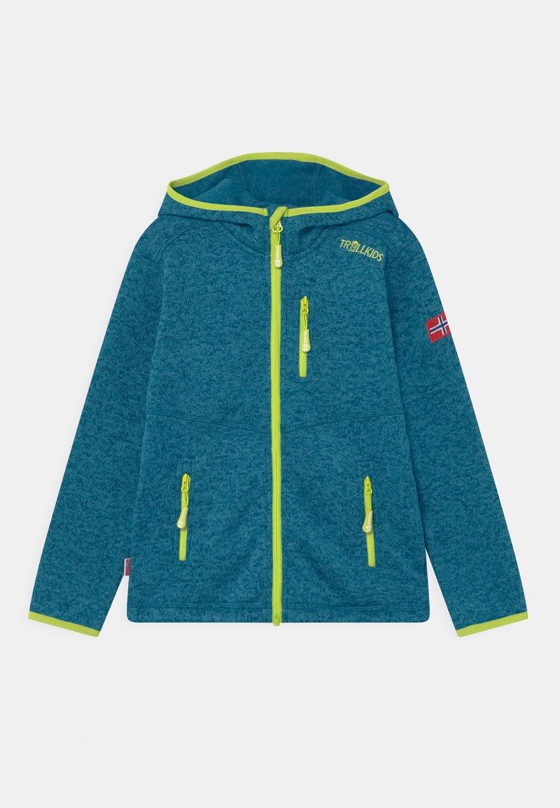 TrollKids - JONDALEN UNISEX - Fleece jacket - petrol/lime