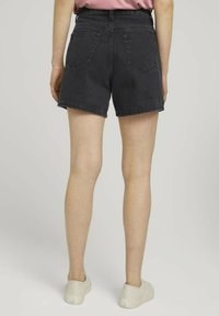TOM TAILOR DENIM - Denim shorts - dark stone black black denim - 2