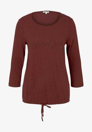 Long sleeved top - dark maroon red melange