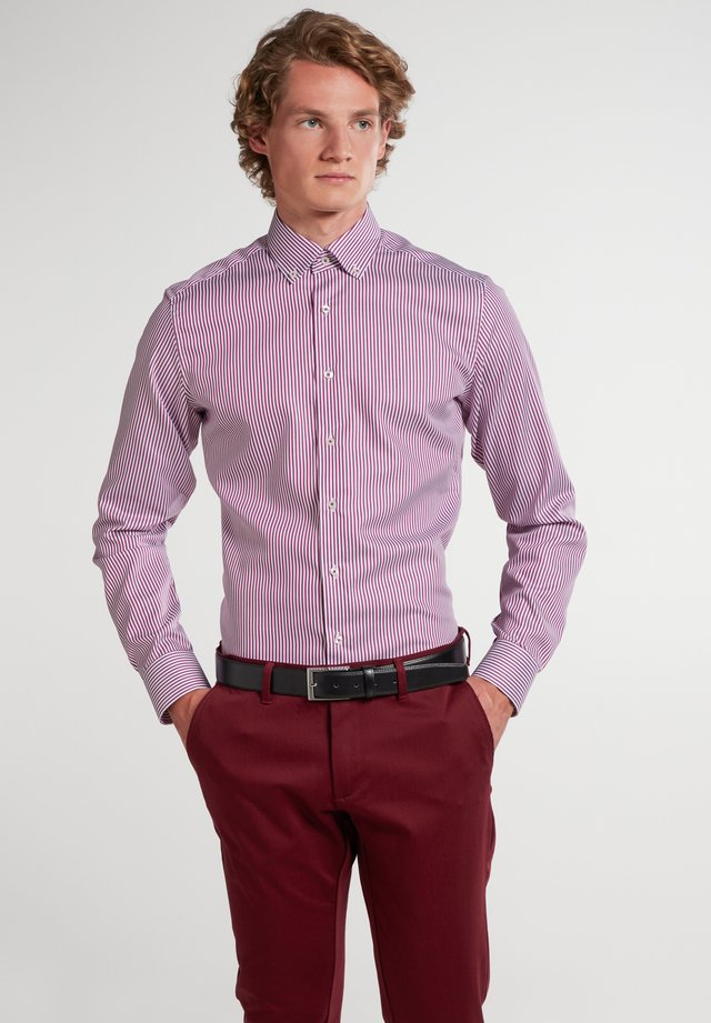 Eterna SLIM FIT - Zakelijk overhemd - aubergine/weiss