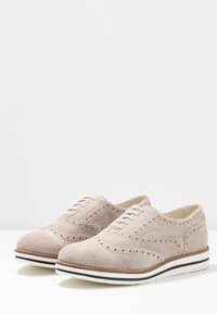 Anna Field - LEATHER - Casual lace-ups - light grey - 4
