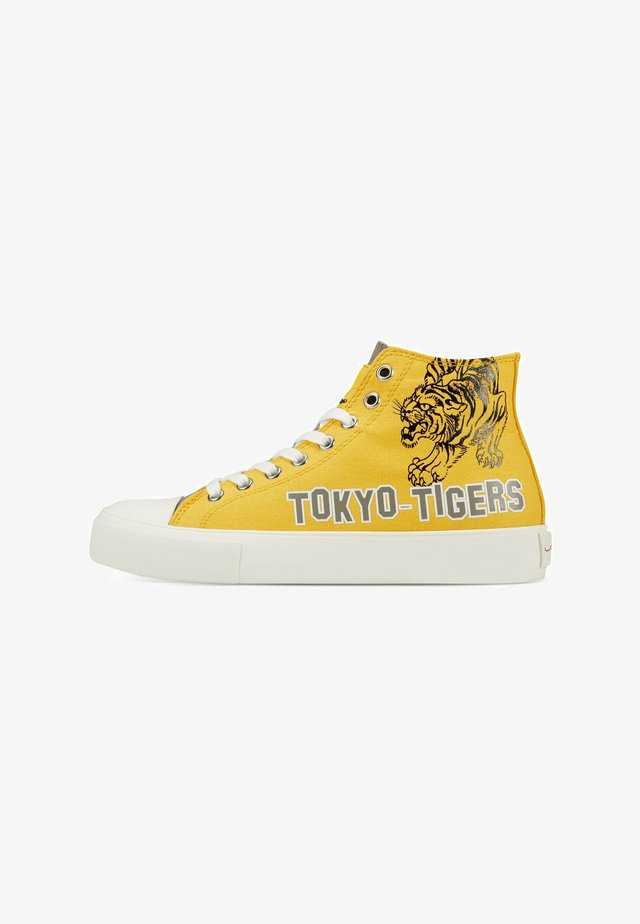 VINTAGE  TOKYO - Sneakers hoog - yellow