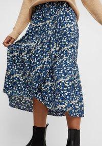 Pieces - A-line skirt - maritime blue - 3