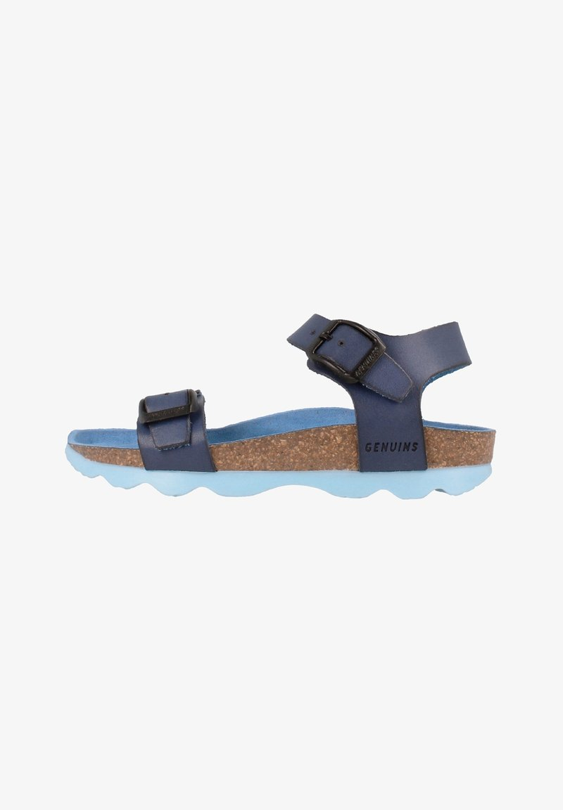 Genuins - PRATO VACHETTA - Sandals - navy