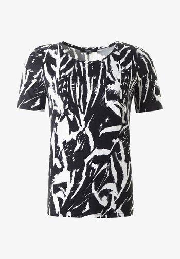 ZELDA TOPP - Print T-shirt - schw-wiess