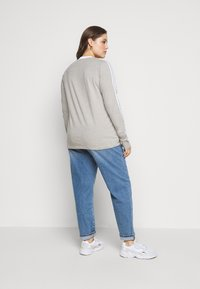adidas Originals - Long sleeved top - grey heather/white - 2