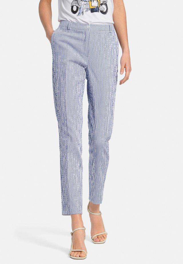 Pantalon classique - blau/offwhite