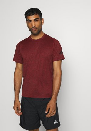 FREELIFT AEROREADY TRAINING SHORT SLEEVE TEE - Basic T-shirt - scarlet melange/black